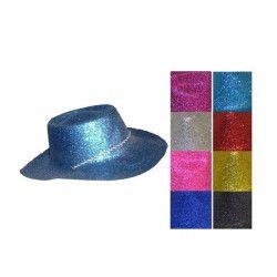 Chapeau cowboy paillettes adulte Accessoires de fête 75093