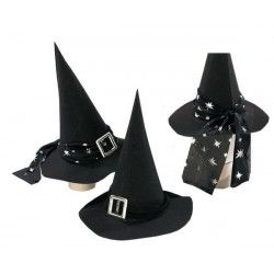 Chapeau sorcière noir adulte Accessoires de fête 7549