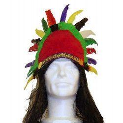 Coiffe d'indien avec plumes Accessoires de fête 75499
