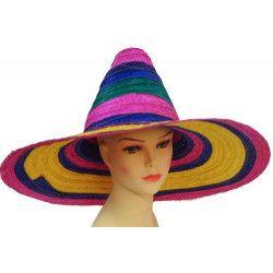 Chapeau paille sombrero Accessoires de fête 75574