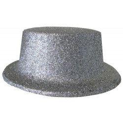 Accessoires de fête, Chapeau Cabaret paillettes argent, 75758, 1,90€