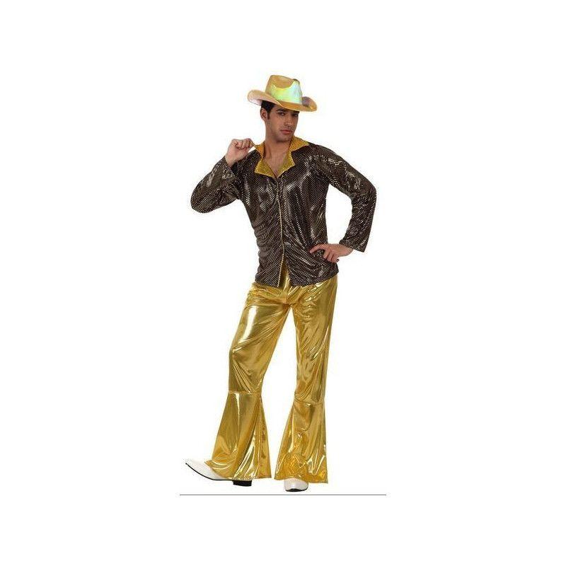 Déguisements, Déguisement homme Disco doré taille XL, 11586, 29,90€