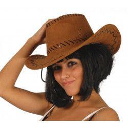 Accessoires de fête, Chapeau cowboy marron adulte, 76045, 3,90€