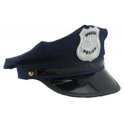 Casquette de police bleue Accessoires de fête 76380