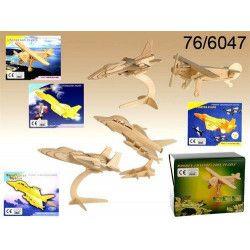 Jouets et kermesse, Puzzle en bois avions 3D, 766047, 2,80€