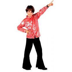 Déguisements, Déguisement Disco garçon rouge brillant 3-4 ans, 7675, 24,90€