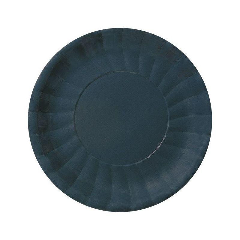 Déco festive, Assiettes rondes carton noir, 116680, 3,87€