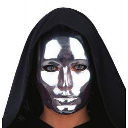 Masque visage argent adulte Accessoires de fête 00080