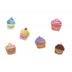 Déco festive, Sachet 24 confettis de table cupcake, 80002, 3,90€