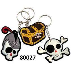 Lot de 12 porte-clés pirates Jouets et kermesse 80027