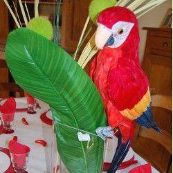 Déco festive, Perroquet de décoration multicolore 63 cm, 80070CHAKS, 23,30€