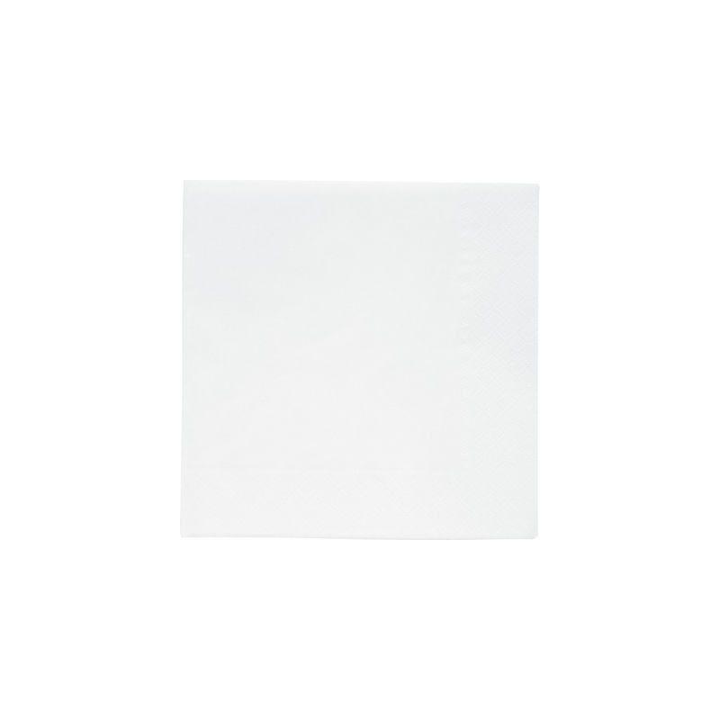 Serviettes papier couleur blanche Déco festive 118385