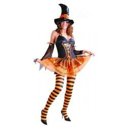 Déguisement sorcière orange femme taille S Déguisements 80459