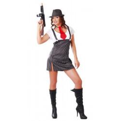 Déguisements, Déguisement gangster femme taille M/L, 80513, 21,90€