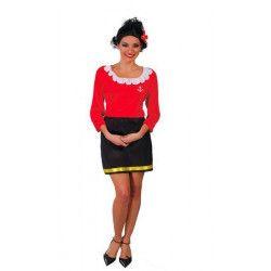 Déguisement marin rouge femme taille M Déguisements 80530