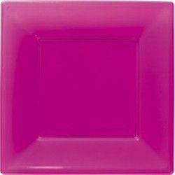 Assiettes plastiques fuschia 18 cm Déco festive 118401