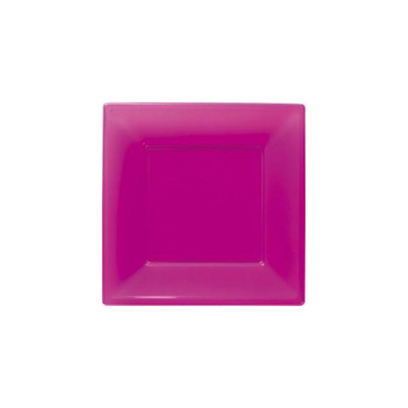 Déco festive, Assiettes plastiques fuschia 18 cm, 118401, 3,90€