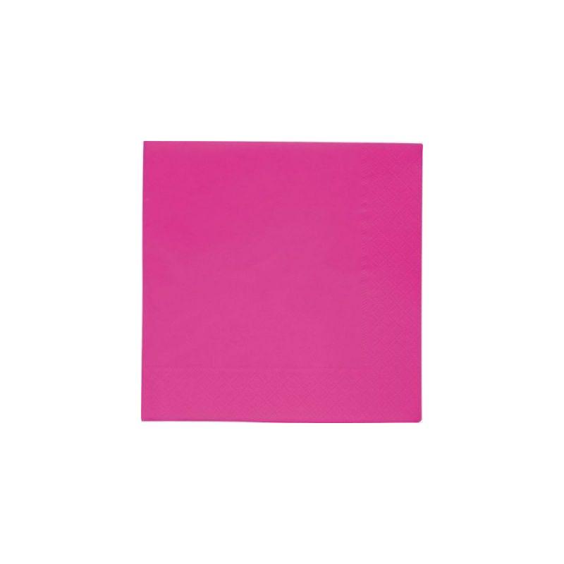 Déco festive, Serviettes papier couleur fushia, 118405, 1,50€