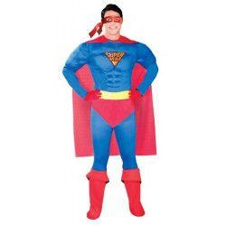 Déguisement super héro bleu et rouge homme taille M-L Déguisements 80764GUIRCA