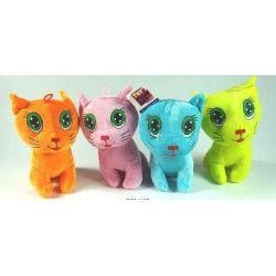 Peluche chat fluo 16 cm Jouets et kermesse 1185