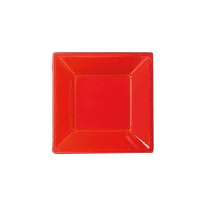 Déco festive, Assiettes plastiques creuses rouges, 118650, 3,90€