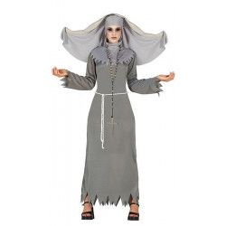 Déguisement religieuse grise diabolique taille L Déguisements 80947