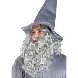 Perruque et barbe de Moïse, Druide ou Neptune Accessoires de fête 80979