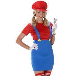 Déguisement plombier rouge femme taille M Déguisements 81004-83149