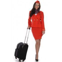 Déguisement hôtesse de l'air rouge femme taille M Déguisements 81049-147937