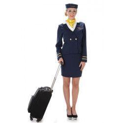 Déguisement hôtesse de l'air bleu femme taille M/L Déguisements 81050-147940