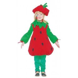 Déguisements, Déguisement de fraise enfant 2-4 ans, 81072, 17,90€