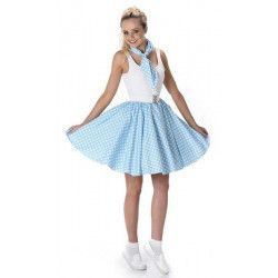 Déguisement jupe bleu clair à pois blancs femme taille S Déguisements 81100S-152425