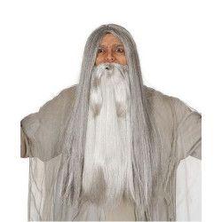 Barbe longue et grise Accessoires de fête 11954