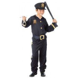 Déguisements, Déguisement policier garçon 10-12 ans, 81633, 15,90€