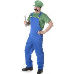 Déguisements, Déguisement plombier vert homme taille L, 82014L-149128, 28,90€