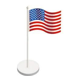 Set 6 marque places USA Déco festive 82016