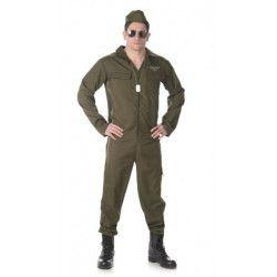 Déguisements, Déguisement pilote de chasse homme taille XXL, 82043XL-149168, 29,90€