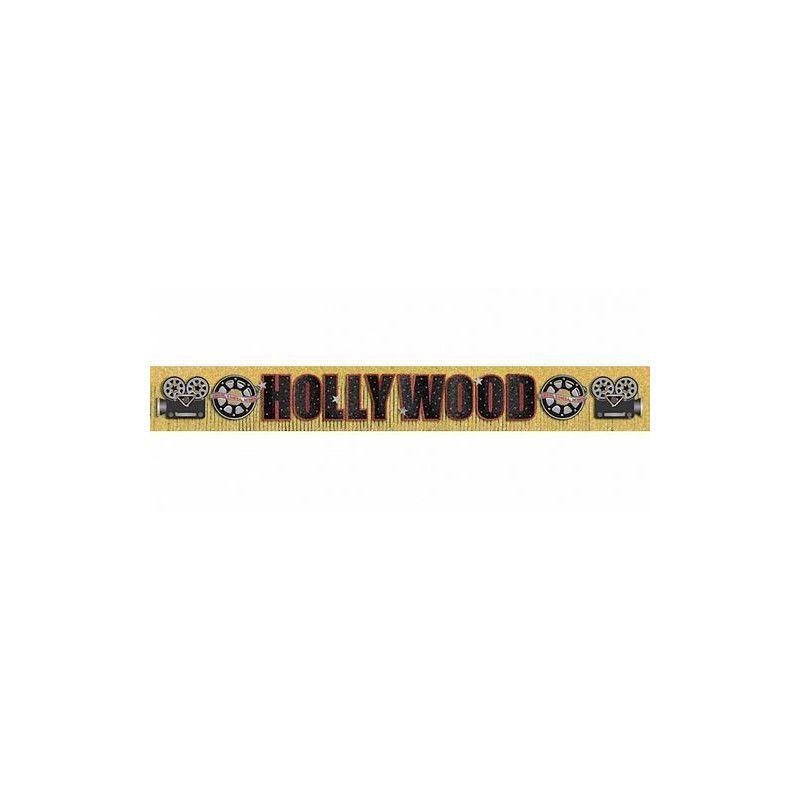 Déco festive, Bannière Hollywood noire et dorée 3 m, 120055, 12,90€