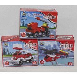 Jouets et kermesse, Jeu de construction Pompiers, 8207-, 0,90€