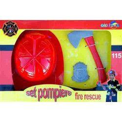 Coffret pompier avec 3 accessoires. Jouets et kermesse 825067