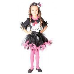 Déguisement robe noire et rose fille 4-6 ans Déguisements 82530