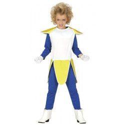 Déguisement Manga façon Végéta bleu jaune garçon 10-12 ans Déguisements 82652