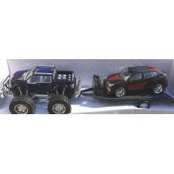 Transporteur américain + remorque et voiture Jouets et articles kermesse 8300