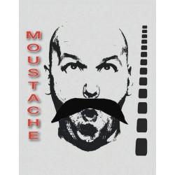 Moustache noire de chinois Accessoires de fête 8300004