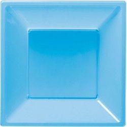 Déco festive, Assiettes plastiques creuses bleu clair, 120762, 3,90€