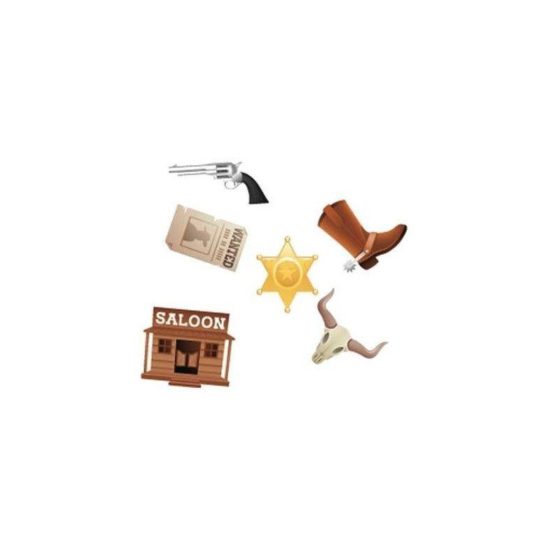 Confettis de table western Déco festive 83006