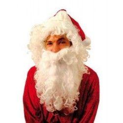 Barbe de père Noël blanche Accessoires de fête 830250