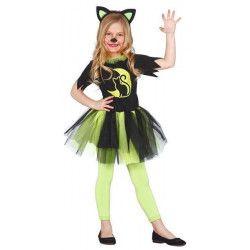 Déguisements, Déguisement chat kitty vert fille 3-4 ans, 83067, 21,90€