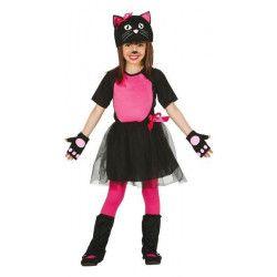 Déguisements, Déguisement chat Kitty noir fille 5-6 ans, 83076, 22,50€