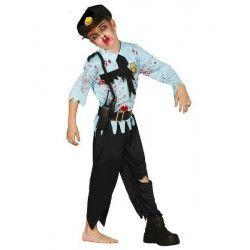 Déguisements, Déguisement policier zombie enfant 7-9 ans, 83145, 24,90€